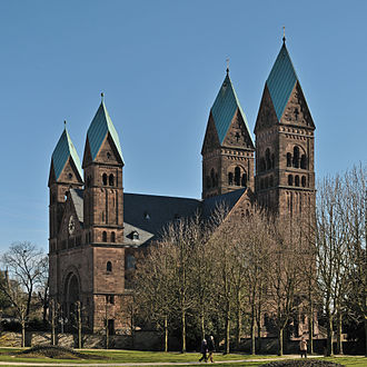 Church of the Redeemer, Bad Homburg - View from Bad Homburg castle