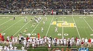 2013 Baylor Bears football team - Gameplay during the second half of Baylor's 2013 Homecoming game against Iowa State.