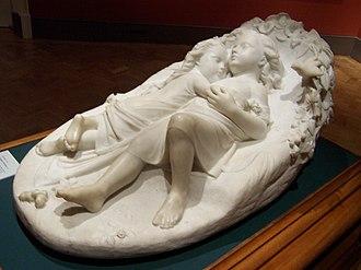 John Bell (sculptor) - Babes in the Wood by John Bell, ca 1842. Norwich Castle