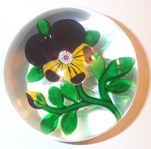 Paperweight - Antique Baccarat Pansy