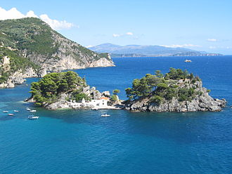 Parga - The island of Panagia off the coast of Parga.