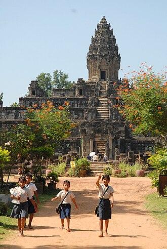 Hariharalaya - The Bakong is the royal temple mountain founded by King Indravarman I at Hariharalaya.