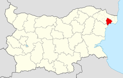 Balchik Municipality within Bulgaria and Dobrich Province.
