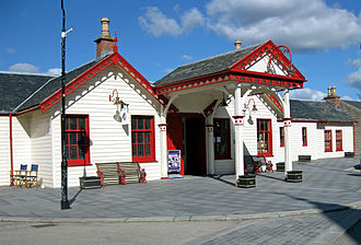 Ballater - The old railway station now used as a visitor and exhibition centre.