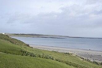 Ballyhornan - View along the coast from the beach at Ballyhornan.