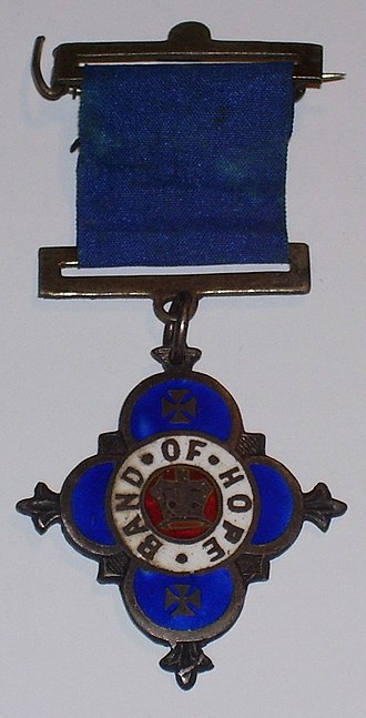 Hope UK - Medallion worn by members of the Band of Hope in the early 20th Century