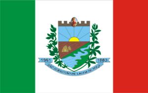 São Sebastião de Lagoa de Roça - Image: Bandeiralagoaderoca