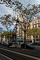Barcelona - Passeig de Gràcia - View North on lamppost-bench 1906 by Pere Falqués i Urpí.jpg