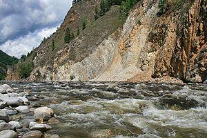 Dzherginsky Nature Reserve - Bargazun River, below Lake Balan-Tamur