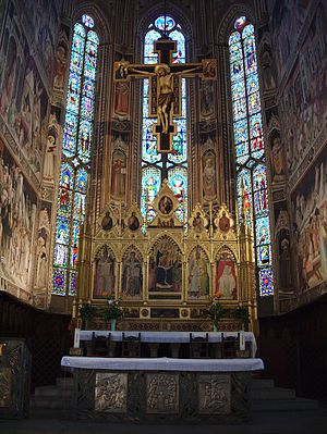 Santa Croce, Florence - The altar and crucifix