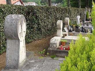 Bassussarry - Basque Hilarri in the Cemetery