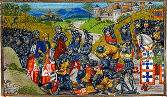 John I of Castile - Battle of Aljubarrota: The victorious Portuguese are on the right