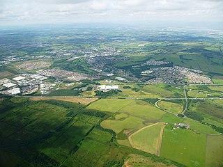Bathgate town in West Lothian, Scotland