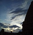 Beauty of evening sky at Brihadeshwara temple.jpg