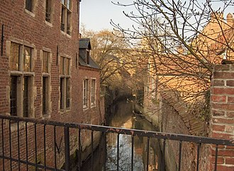 Groot Begijnhof, Leuven - Canal of the River Dyle in the Beguinage of Leuven