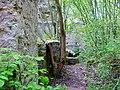 """Beim 366 km langen Neckartalradweg, Neckarburg, 793 Die """"Nehhepurc"""" wird erstmals im Besitz des Klosters St. Gallen erwähnt - 1275, Die Neckarburg erscheint mit eigener Pfarrkiche und eigenem Geistlichlen - 1589, Die Sp - panoramio (4).jpg"""