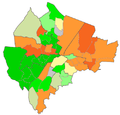 Belfast Wards Catholic percentage 2011.png