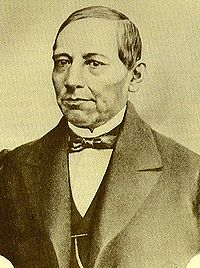 Tinted portrait of Juárez