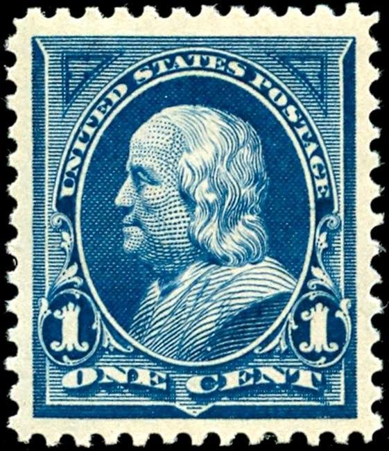 Benjamin Franklin2 1895 Issue-1c