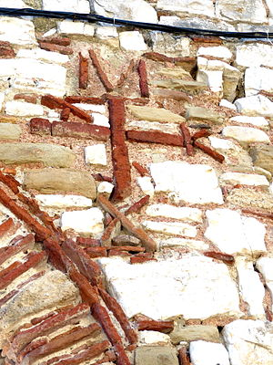 Michael I Komnenos Doukas - Monogram of Michael on the walls of Berat Castle, Albania