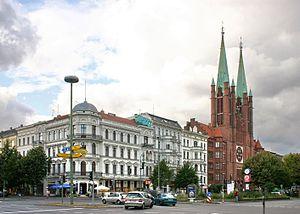 English: St Boniface in Berlin-Kreuzberg seen ...