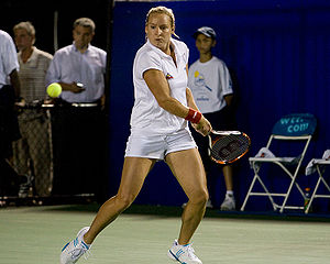 Bethanie Mattek-Sands - Mattek playing for the New York Sportimes during a World Team Tennis match in Mamaroneck on July 10, 2008
