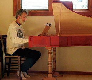 Douglas Leedy - Douglas Leedy at the harpsichord