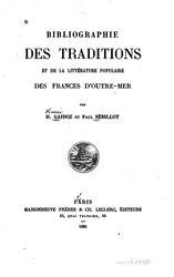Bibliographie des traditions et de la littérature populaire des Frances d'outre-mer