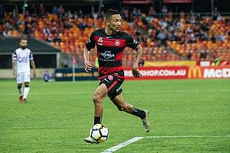 Kearyn Baccus - Kearyn Baccus in action for Western Sydney Wanderers.
