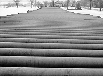 Big Inch - Image: Big Inch pipes ready to lay