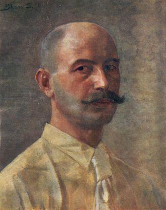 Sándor Bihari - Self-portrait (1880s?)
