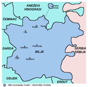Bilje - Map of Bilje municipality