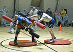 Billy Blanks, Gladiators challenge TCM troops 130402-F-QV958-039.jpg