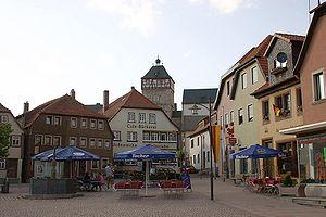 Bischofsheim an der Rhön - Image: Bischofsheim an der Rhön Marktplatz