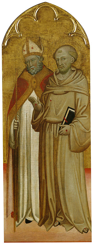 San Francesco, Lucca - Bishop Saint and Saint Francis of Assisi