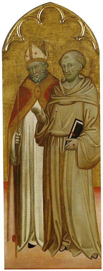 San Francesco, Lucca - Bishop Saint and Saint Francis of Assisi