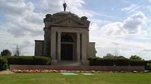Mount Carmel Cemetery (Hillside, Illinois) - The Bishops' Mausoleum at Mount Carmel Cemetery.