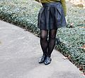 Black Faux Leather Forever 21 Skirt with Black Tights and Pointed Cutout Boots (23063988861).jpg