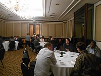 Black Lunch Table at Wikimania 2018 (01).jpg