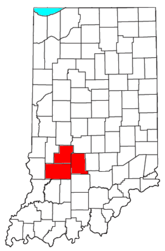 Bloomington, Indiana - Location of the Bloomington Metropolitan Statistical Area in Indiana