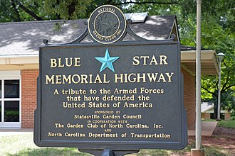 Blue Star Memorial Highway - I-77 rest area, near Mooresville, NC