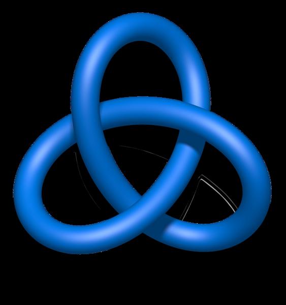 File:Blue Trefoil Knot.png