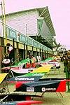 Bodywork in the pit lane at the 1993 British Grand Prix (33557430381).jpg