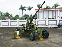 Bofors 40mm Gun in Military Airplanes Display Area 20111015.jpg