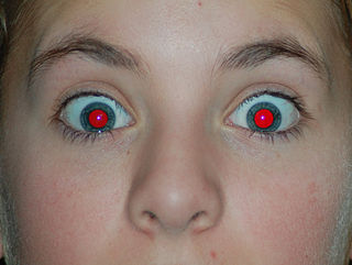Red-eye effect photography appearance