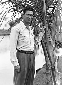 Boston Red Sox legend Ted Williams standing Sarasota, Florida.jpg