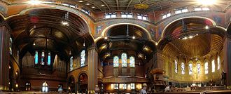 Trinity Church (Boston) - Interior panorama Trinity Church (Boston)