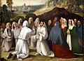 Bottega di dosso e battista dossi, apparizione della madonna col bambino tra i ss. francesco e bernardino ai confratelli della neve, 1530-40 ca. 05.jpg