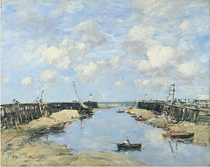 The Entrance to Trouville Harbour