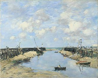 Frank Rutter - Eugène Boudin. The Entrance to Trouville Harbour, 1888. The National Gallery accepted this painting.